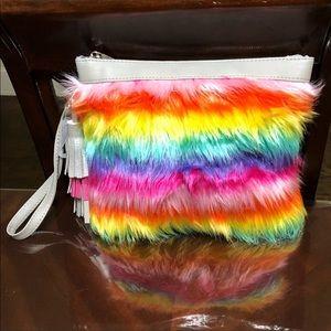 Handbags - 👜ADORABLE MULTI-COLORED UNICORN FAUX FAR TOTE BAG